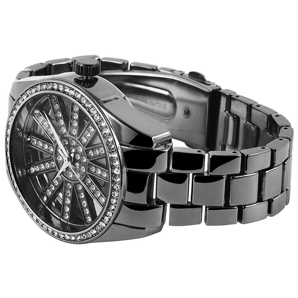 Hodinky kovové čierne Excellanc 900  fdf2f57c1e