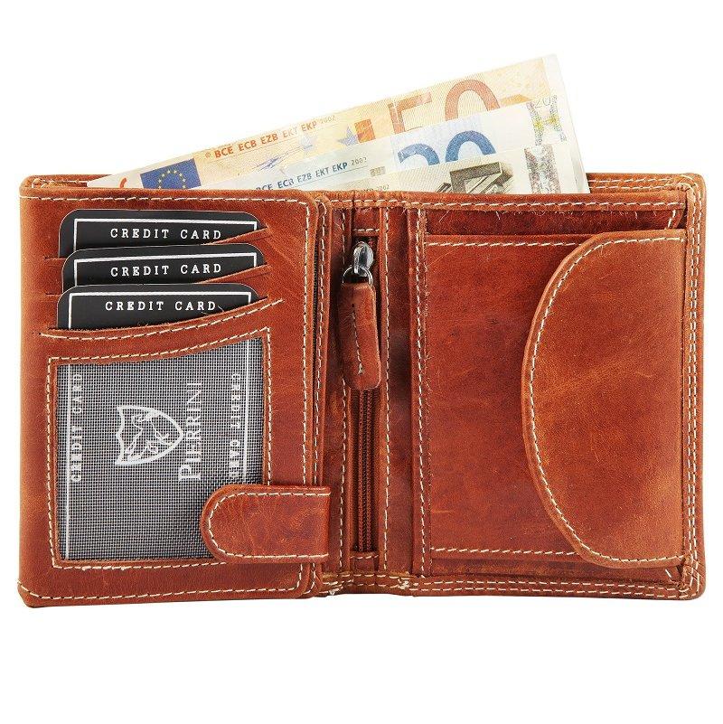Peňaženka pánska kožená Pierrini 10×12 cm SG110 2 farby  e306c227aa6