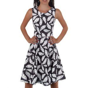 48704a6ad7f5 ... Dámske šaty Áčkové komfortné 8807-119 vzorované ...
