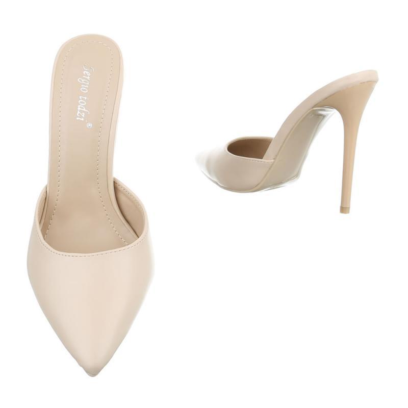 6d7d43d4e9 Dámske sandále šľapky vysoké FKPA359 beige