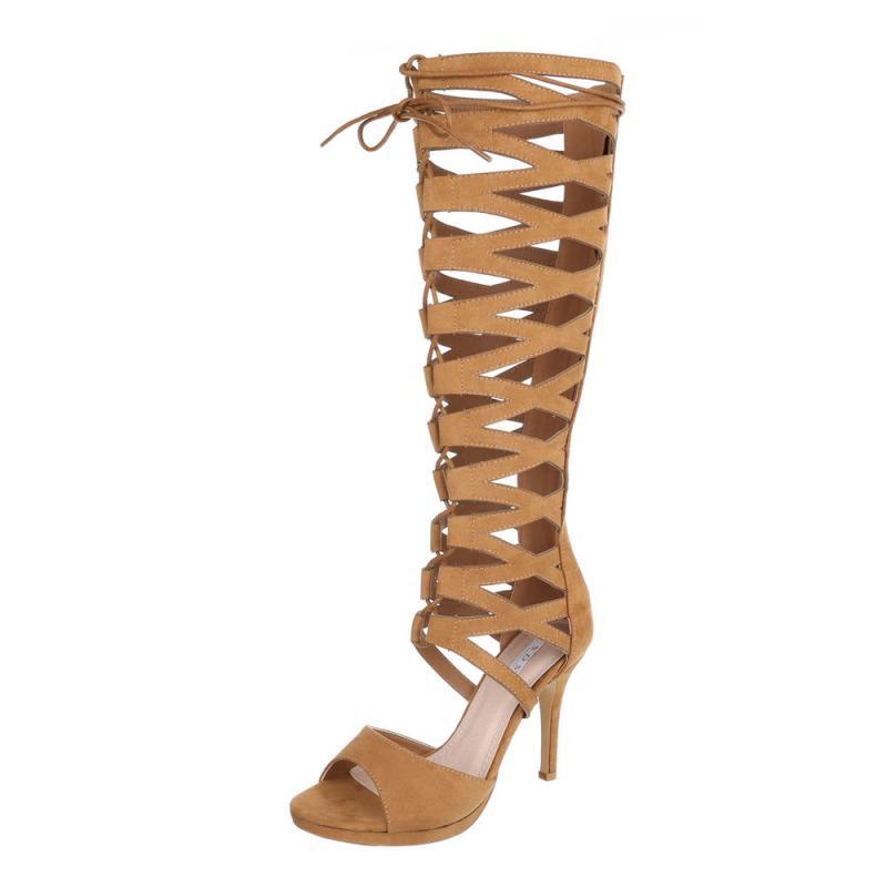 Dámske sandále Gladiator vysoké FK1280 brown  41bb53eea24