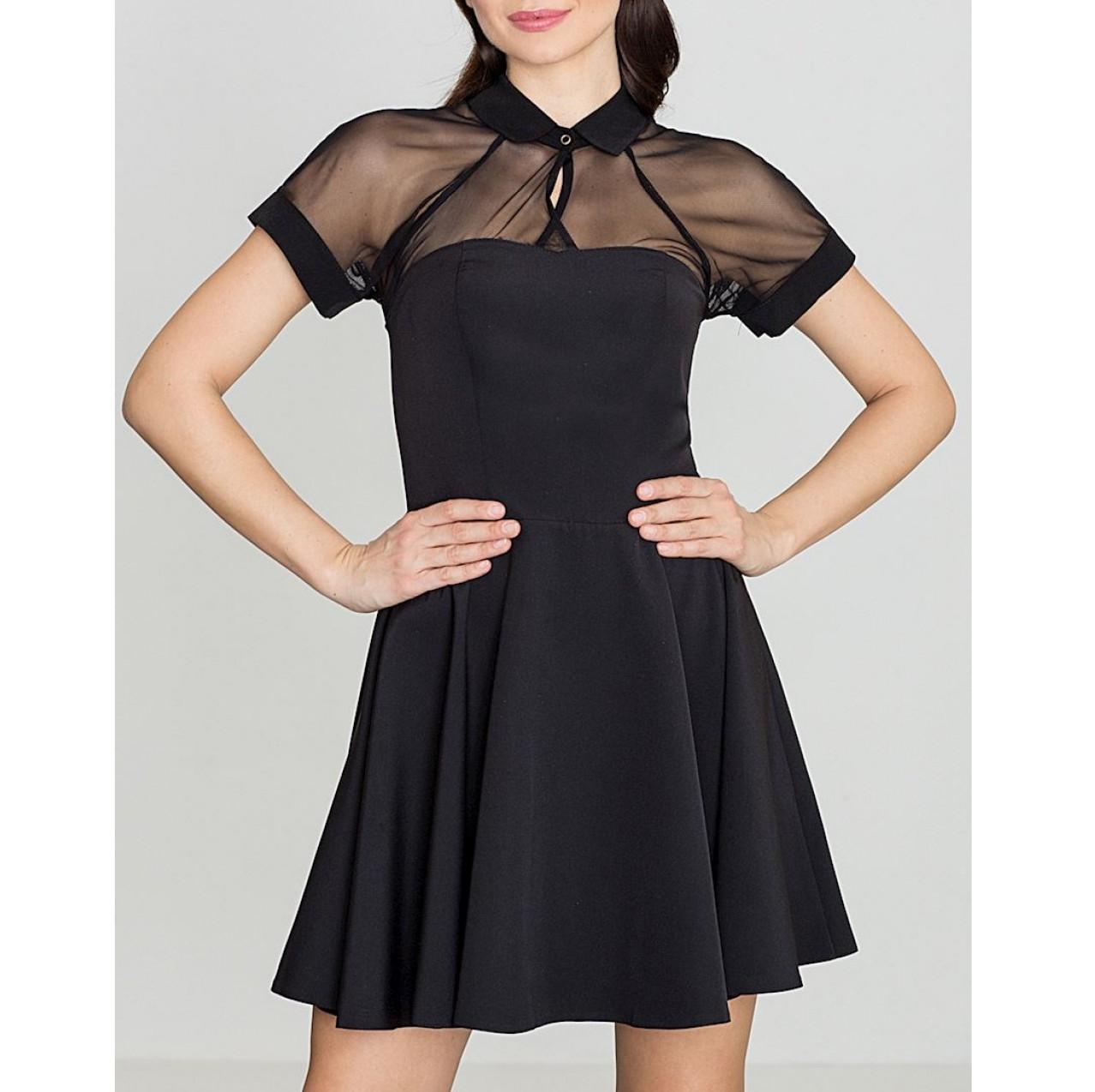 Dámske mini šaty sexi FK114300 black  db47cf49624