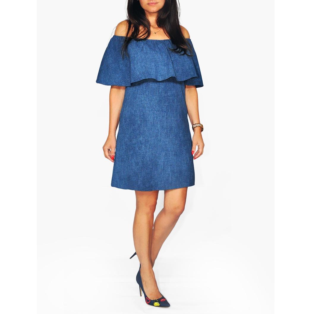 Dámske pohodlné rifľové šaty casual FK150 denim  8627d100cd0