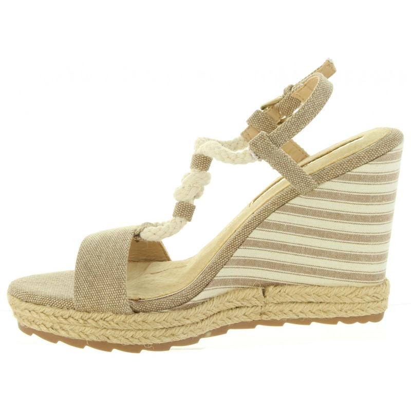 cc101d970f03 Dámske letné sandále na platforme Maria Mare G67109 jeans béžové -