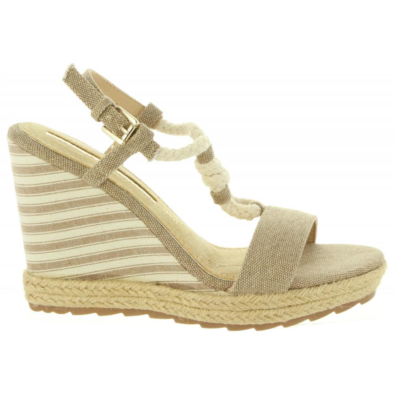 5820191dc82e Dámske letné sandále na platforme Maria Mare G67109 jeans béžové -