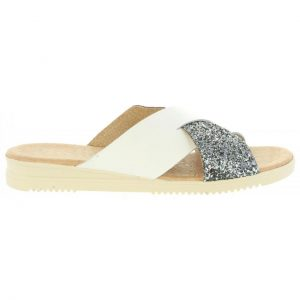 03f33b6e7273 Rýchly náhľad. Dámske kožené šľapky sandále Cumbia G20571 white