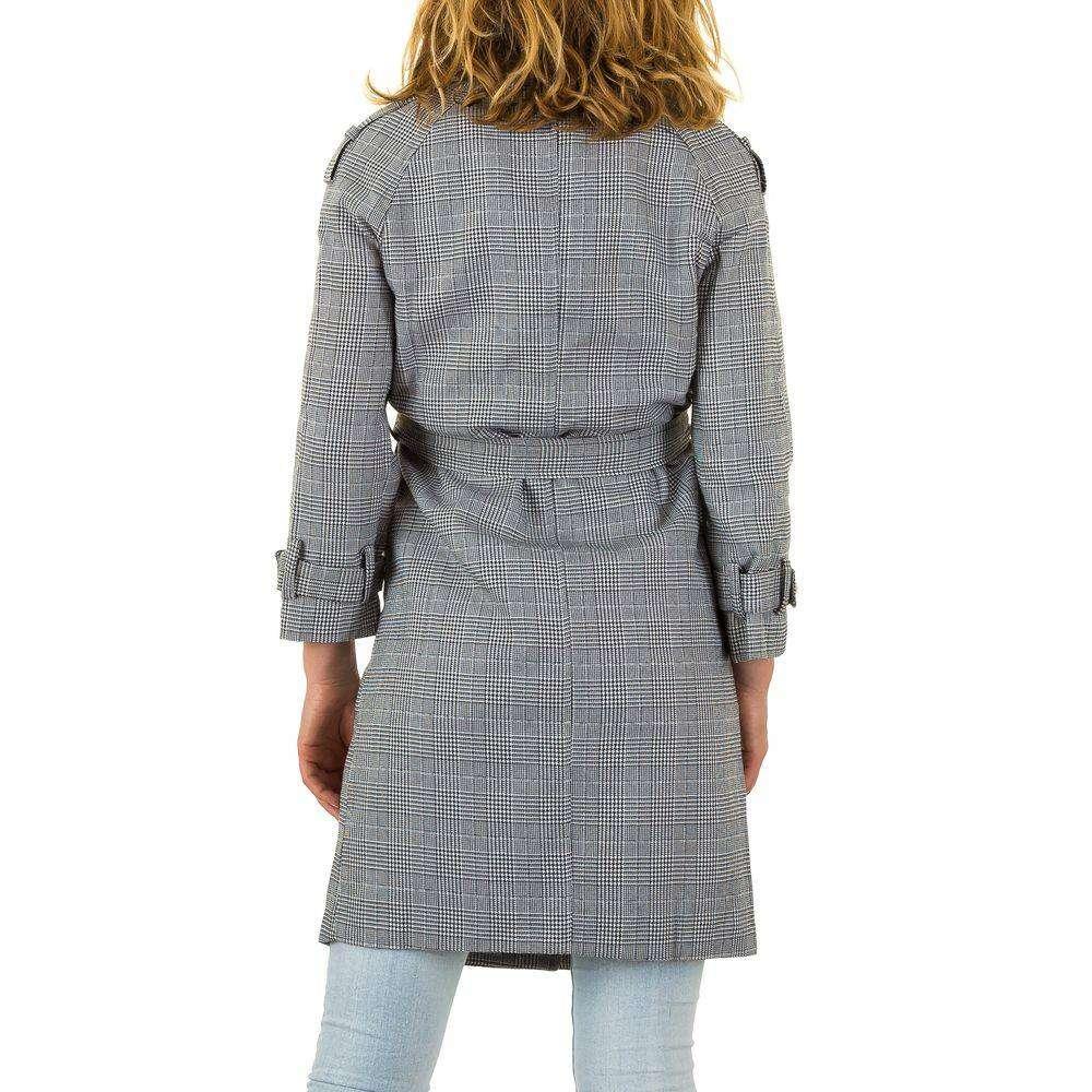 Dámsky kabát prechodný casual JW261SW180 sivý čierny  dd9dc7a50e4