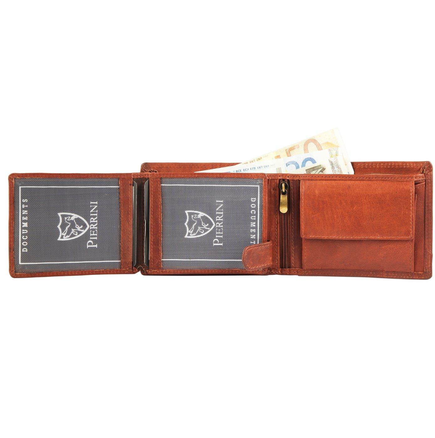 Peňaženka pánska kožená Pierrini 12×10 cm SG110 2 farby  d824b98ae7a