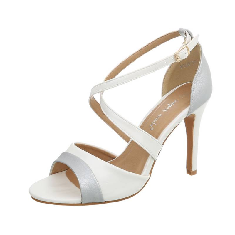 eddeb5ddee6b Dámske sandále vysoké spoločenské Shiny FK120 biele
