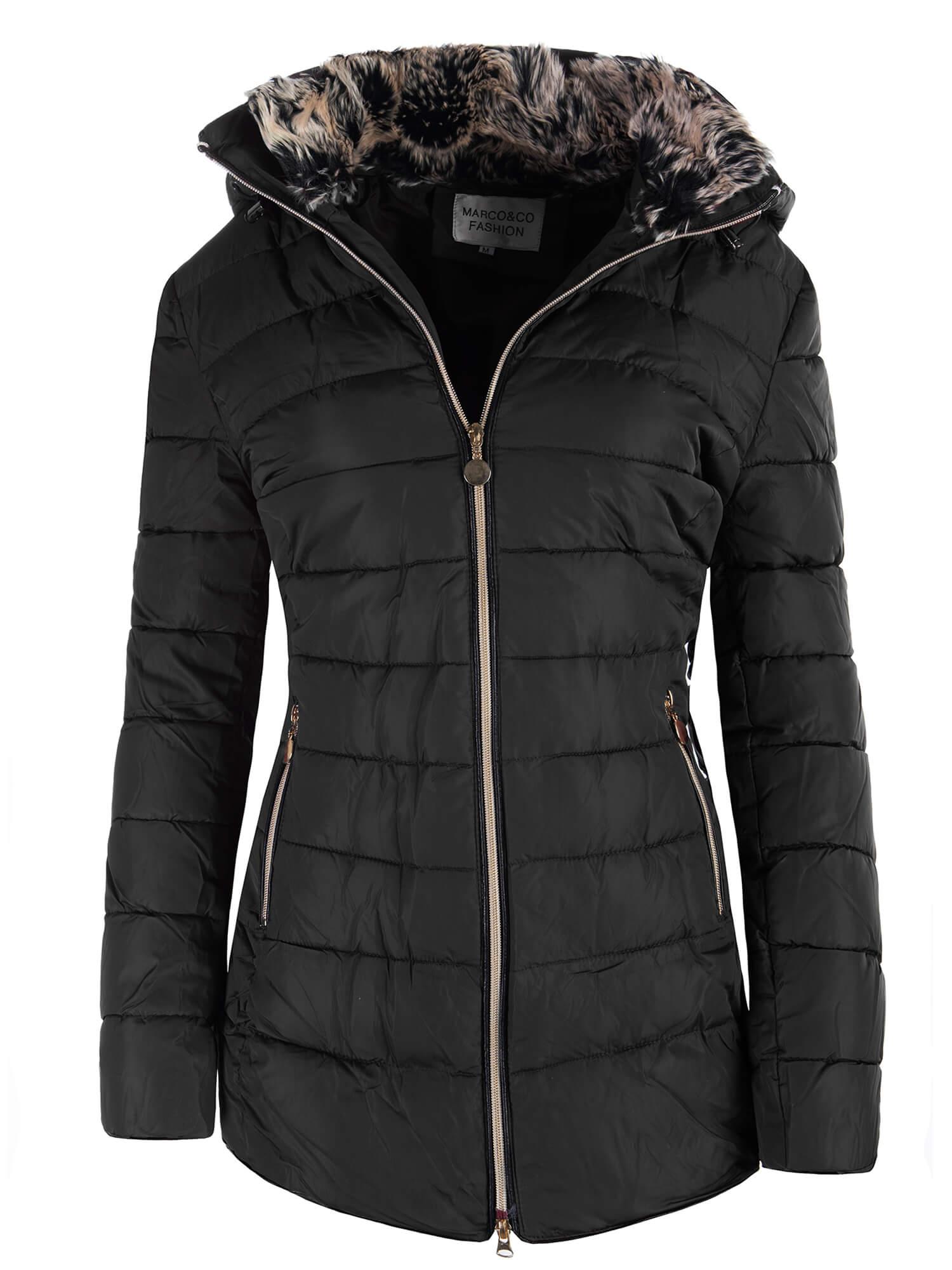 Dámska zimná bunda kapucňa kožušina dlhá 9731 4 farby  7cb005a3fd2
