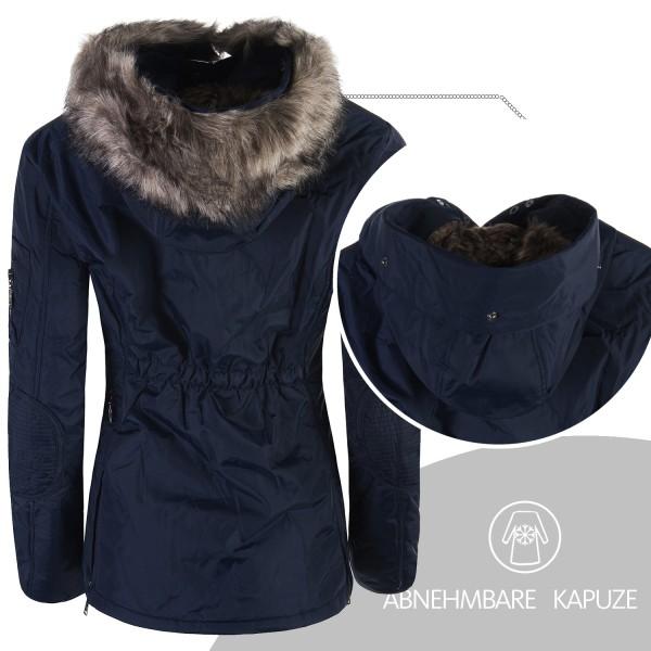 Dámska zimná bunda kapucňa kožušina krátka 9733 3 farby  79375630bcd