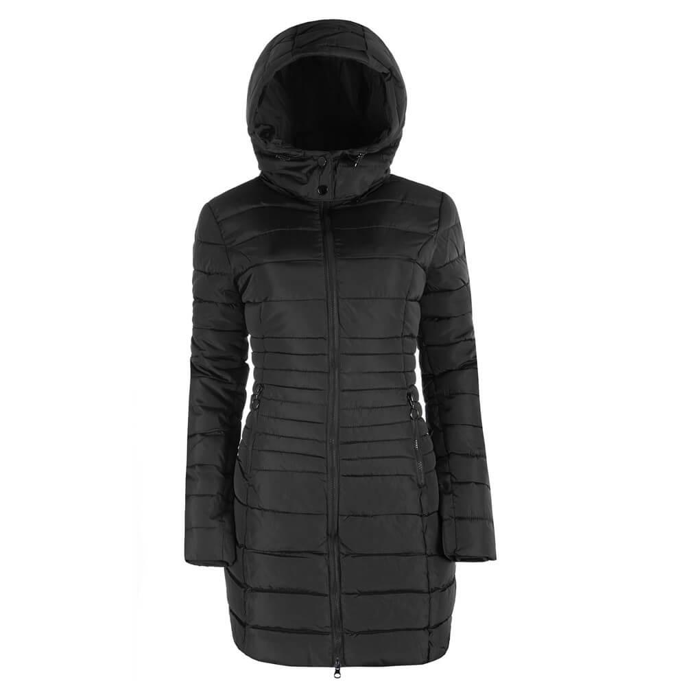 Dámska prechodná bunda kapucňa dlhá 9736 5 farieb  2be656d1919