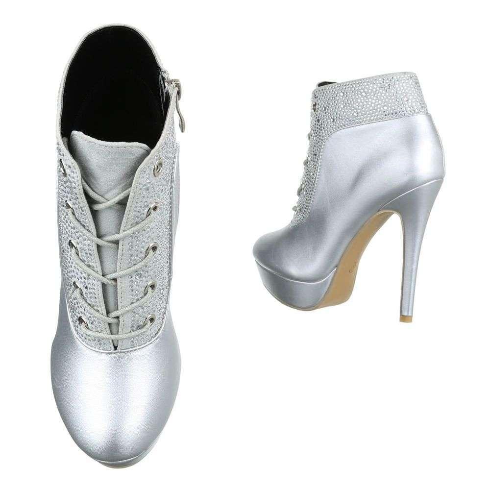 Dámske čižmy topánky vysoké metalic crystal JA73SW110 strieborné  5cfe7a217e7