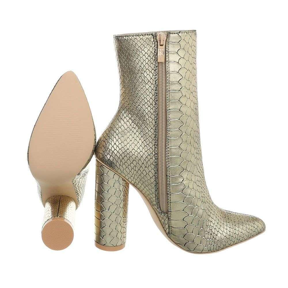 Dámske čižmy topánky Classique vysoké JR-0013SW190 zlaté  ab477b8af20