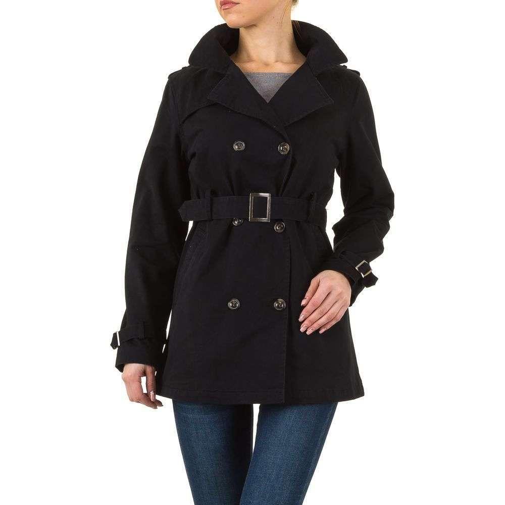 Dámsky kabát plášť prechodný dvojradový ZDY175FSW130 čierny  5b730a37f96