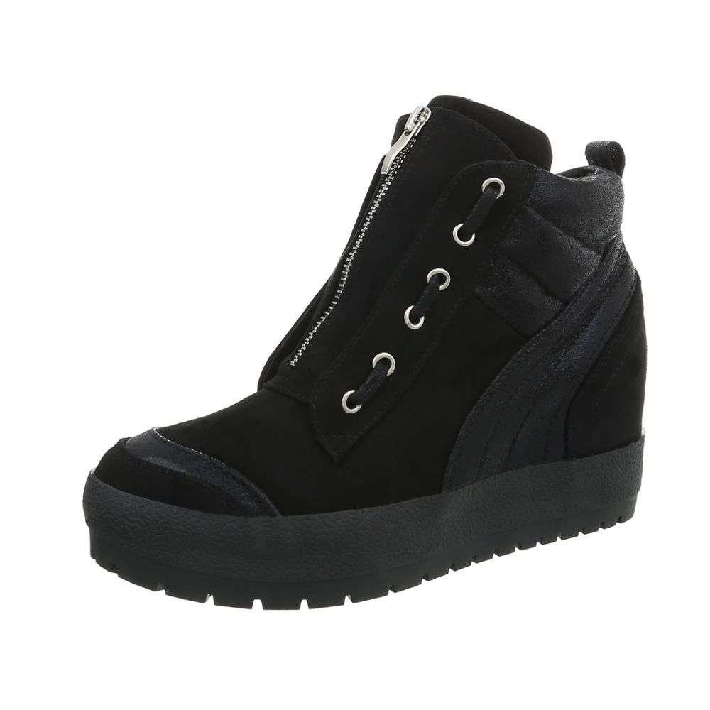 Dámske sneakers topánky platforma high top AJ-551SW130 čierne  62cf009b5e5