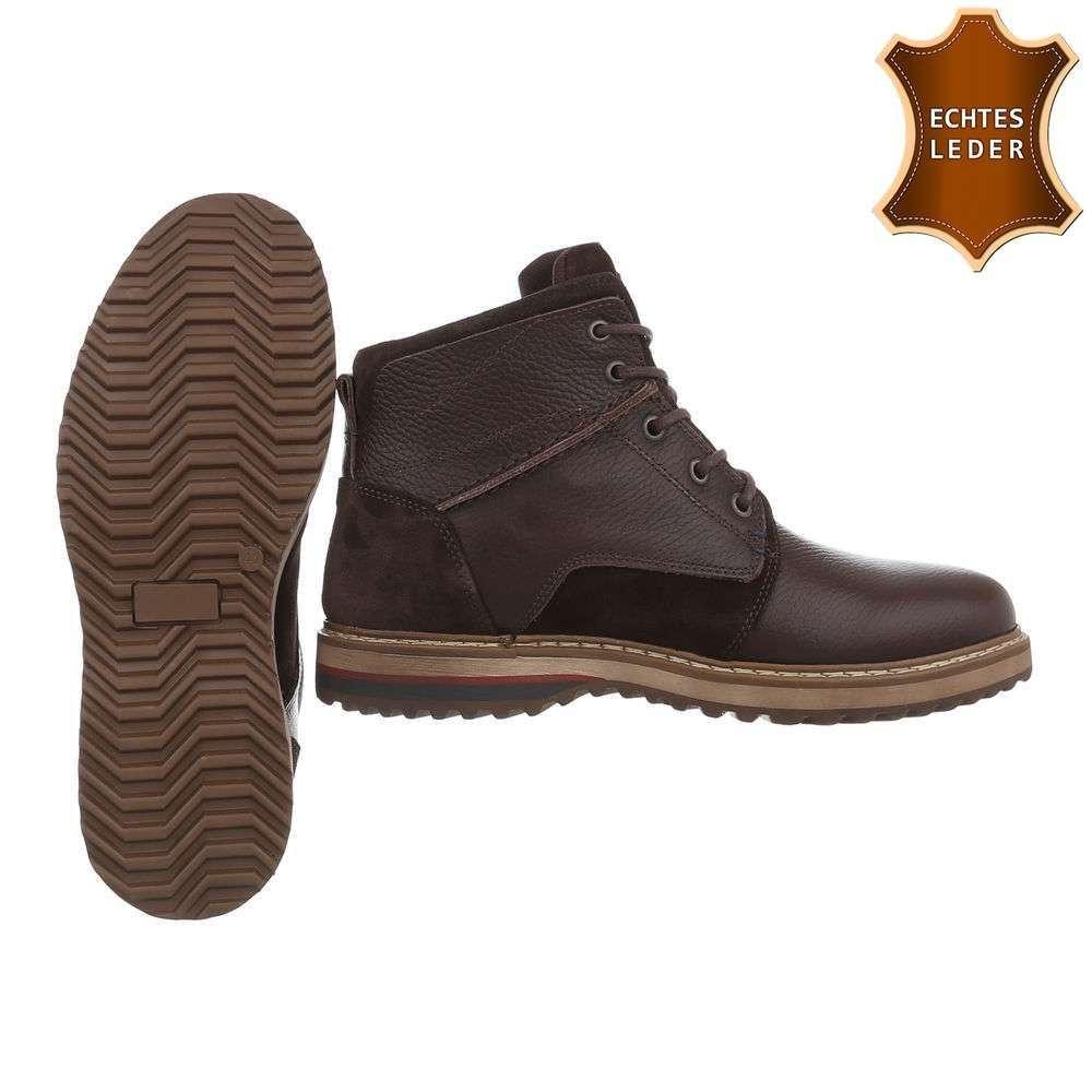 Pánske topánky členkové kožené TNK-208SW350 hnedé  58f89bbcb7f