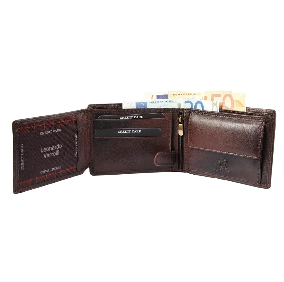 Peňaženka pánska kožená Verrelli 12×9 cm 3-117SG160 2 farby  9bdfa16c076