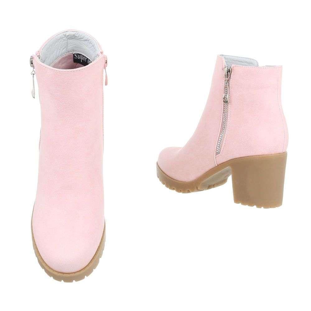 8bc5e3179e Dámske čižmy topánky členkové metalic H718SW110 pink