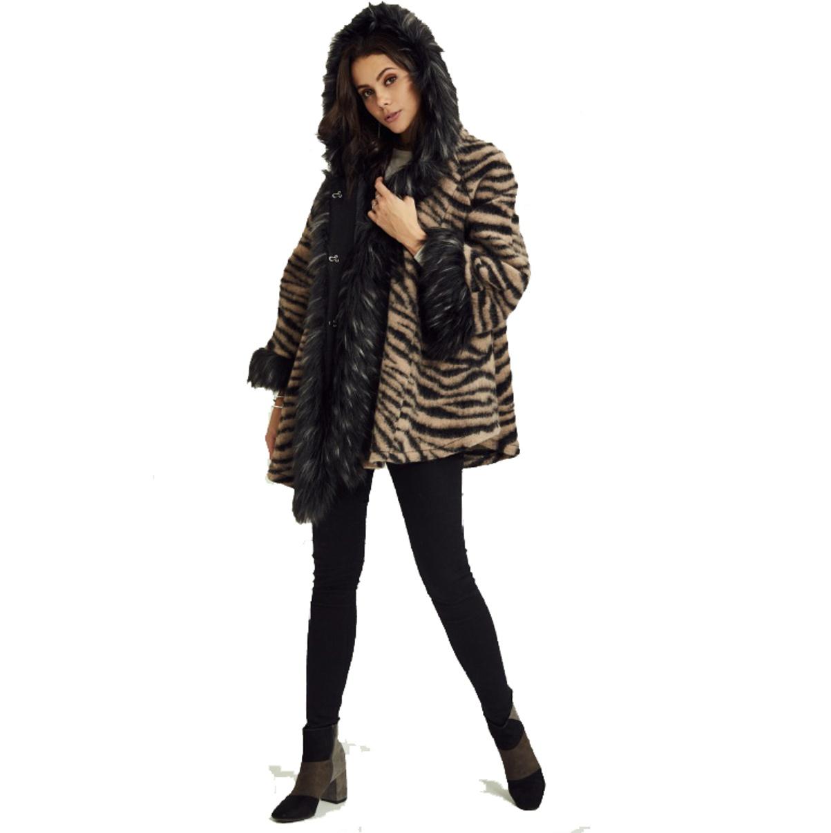 Dámsky kabát ITALY plášť kožušina oversize KEEP RRF-1875P700 2 farby  5aab2360cce