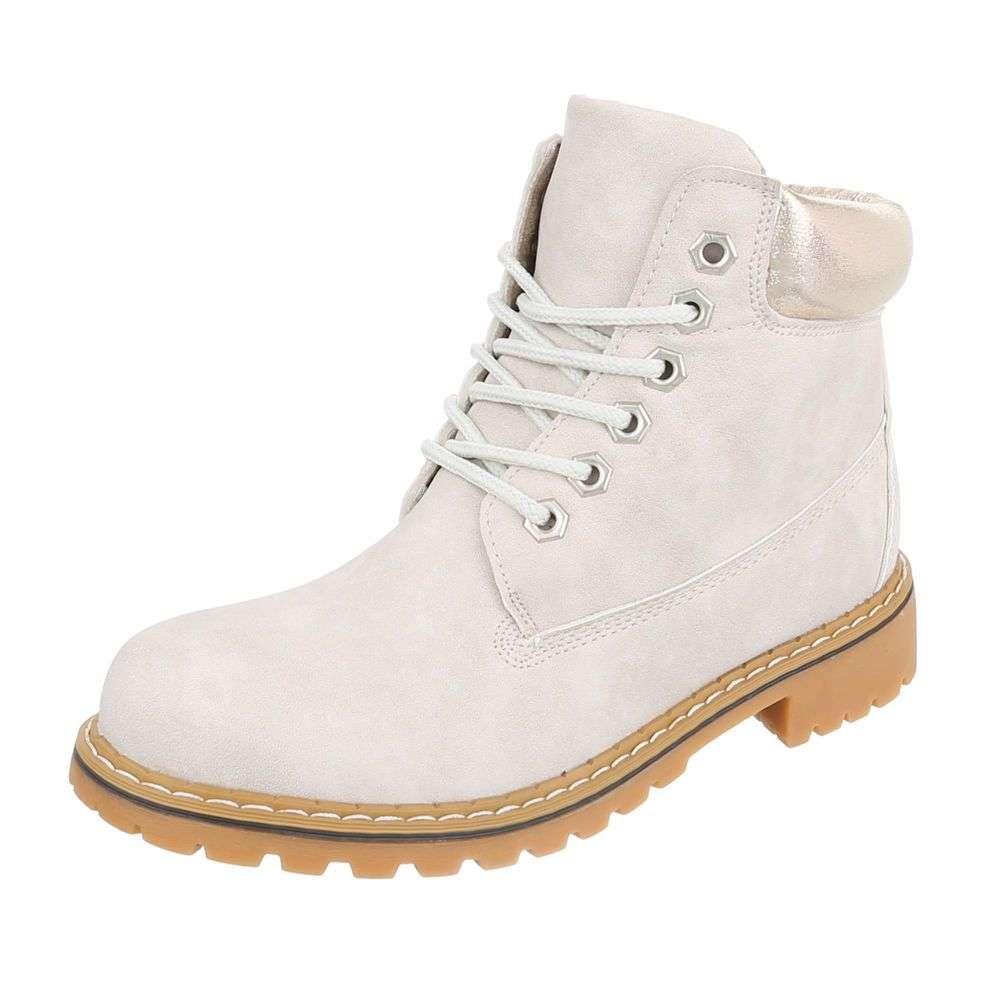 Dámske módne topánky členkové prechodné H780SW110 béžové  026ca3a27b2