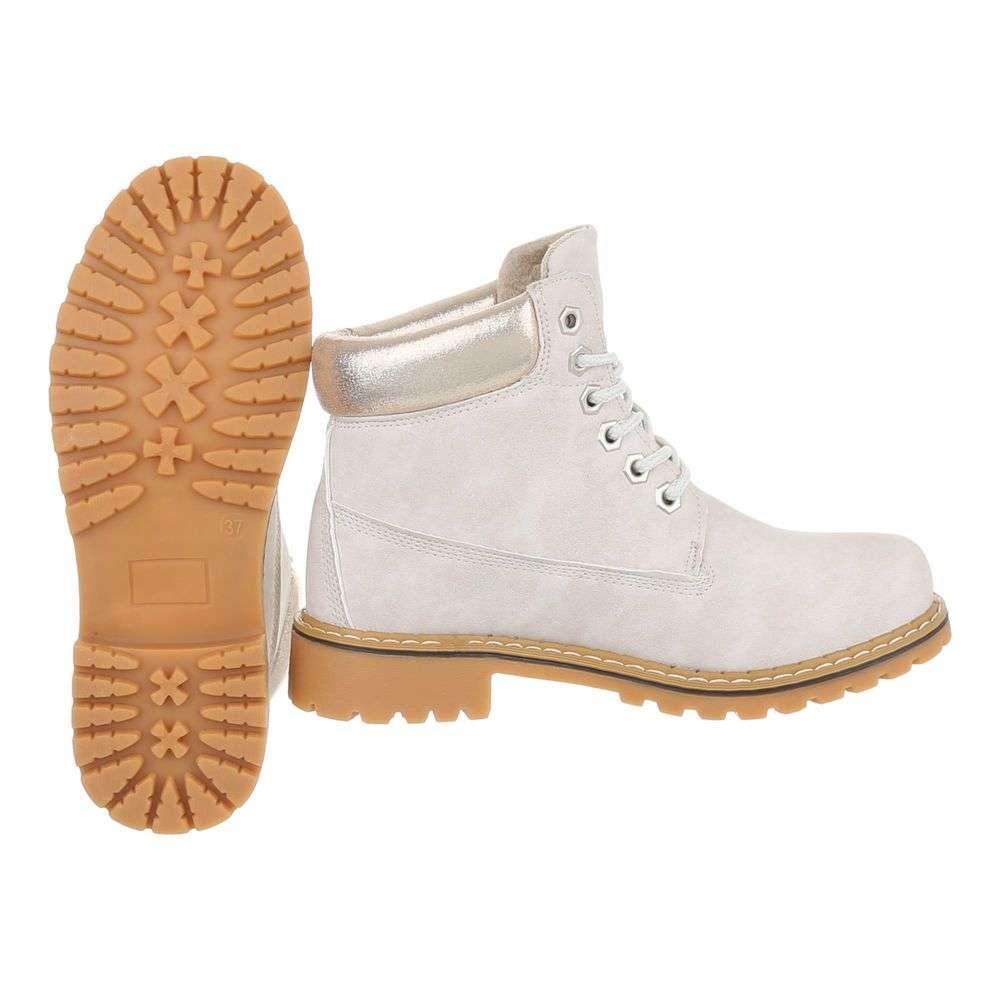 Dámske módne topánky členkové prechodné H780SW110 béžové  669b29d3c95