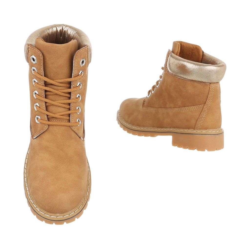 Dámske módne topánky členkové prechodné H780SW110 camel  33871007366
