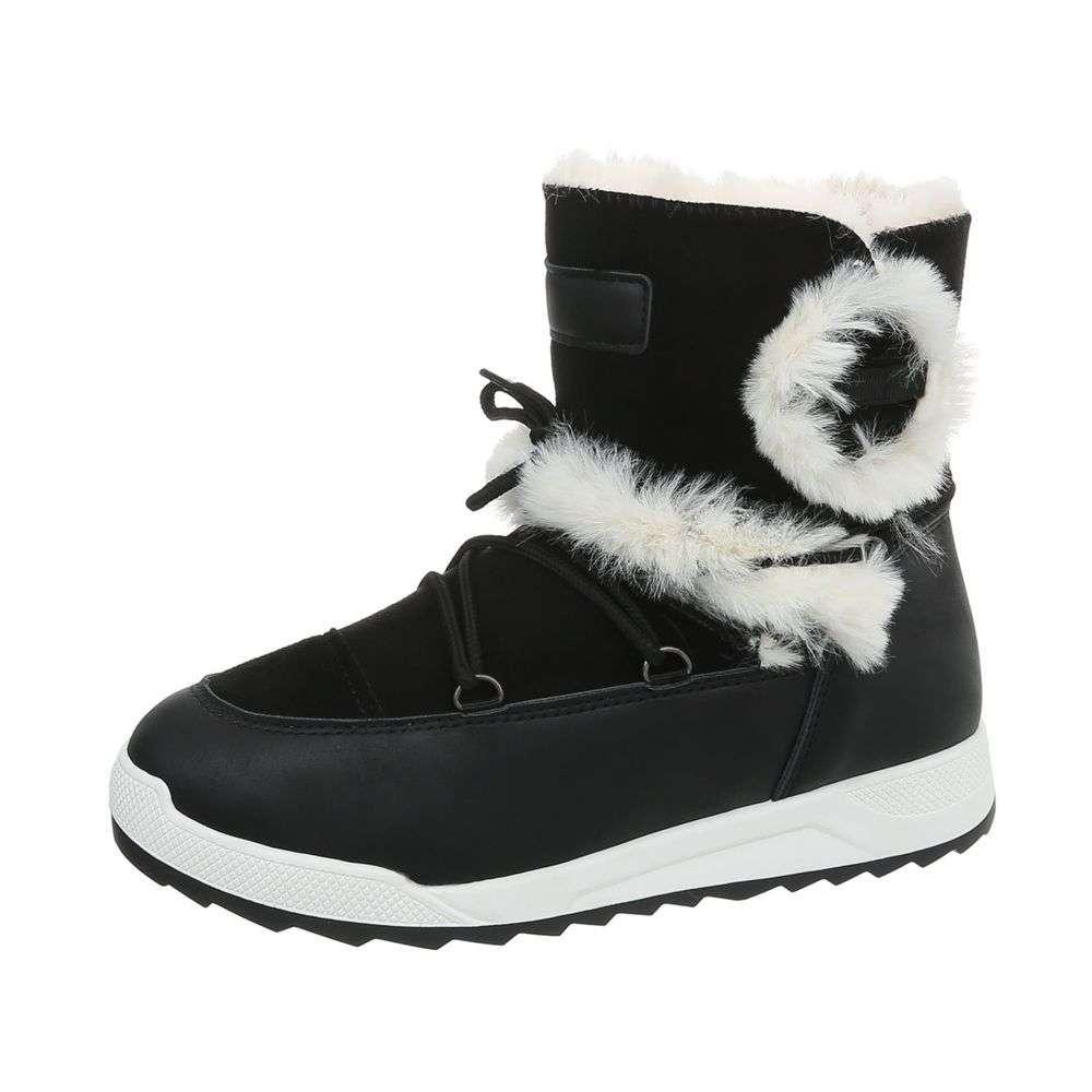 Dámske čižmy snehule topánky kožušina 12015SW130 čierne  0bac5acd033