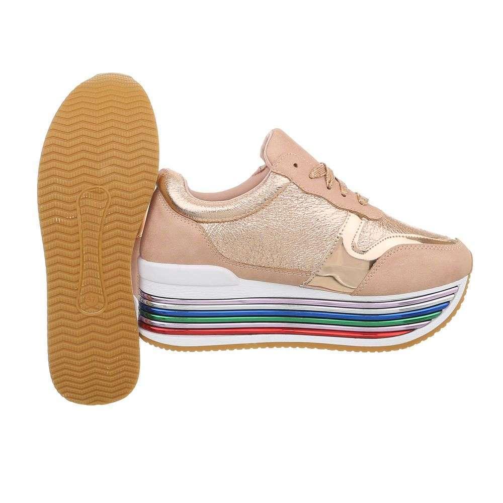 9c863fe511df Dámske sneakers tenisky platforma lowtop 3709211SW120 zlate