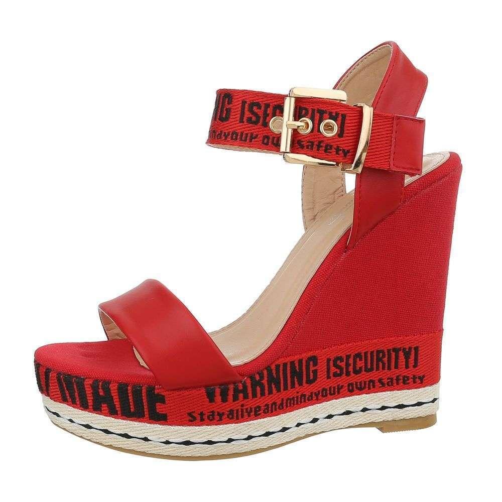 5084053587f0 Dámske exkluzívne sandále platforma vysoké fashion T-20SW120 červené